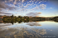 The Island House (AbhijeetVardhan) Tags: england house lake reflection water island dawn nikon bravo district hills cumbria fells sns derwentwater keswick hdr topaz adjust d90 denoise