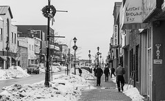 Main Street North Bay ({Andrea}) Tags: bw snow walking streetphotography day56 odc canoneos50d day56365 3652013 week9theme 365the2013edition 25feb13