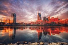 Nashville Morning (Malcolm MacGregor) Tags: skyline sunrise nashville tennessee hdr thechallengefactory