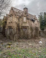 Abandoned House Vertorama - Trentham Gardens (Raven Photography by Jenna Goodwin) Tags: panorama house abandoned gardens stokeontrent derelict trentham urbex vertorama