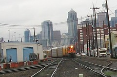 Looking north on BNSF tracks (rjgivnin Sr) Tags: seattle rail bnsf switcher