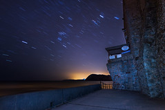 Copernicus was right! (PiotrHalka) Tags: uk longexposure sea night star moving britain earth sony great wideangle clear devon alpha sidmouth copernicus jurassiccoast a580