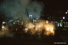 City (Rafakoy) Tags: street city nyc newyorkcity light urban ny newyork color cars film colors night 35mm dark 50mm lights manhattan smoke slide steam push late epson pushed avenue e6 vapor nikonf6 afnikkor50mmf14d fujiprovia1600 2stops epsonv600 afsnikkor28mmf18g