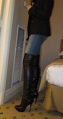 Ready for dinner (Rosina's Heels) Tags: leather high pumps boots thigh heel stiletto overknee boos