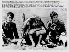 Vietnam War - 1975 Three Wounded Soldier Phuoc Binh Rest - Press Photo
