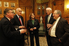 House Speaker DeLeo joins reception for EU visitors in Senate President Murray's office