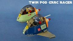 Twin Pod GARC Racer 01 - incoming (JPascal) Tags: pod lego twin racer garc