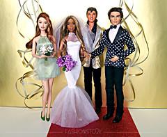 Viva Las Vegas! (fashionisto2k) Tags: wedding fashion bride dolls ryan barbie drew elvis christie mattel fever fashionistas f2k