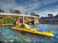Finding Nemo Submarine Voyage - Disneyland - California (apicozzi) Tags: reflection water nemo disneyland disney submarine monorail hdr findingnemo yellowsubmarine waltdisney