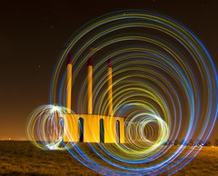 2013-03-04 RVG_2182 Pencils and circles (ralphvandergeestfotografie) Tags: longexposure light lightpainting art colors pencils circle stars landscape star circles creative nederland thenetherlands orb local orbs torchlight zeewolde longexposuretime landscapeart movementandmotion nikond300 ralphvandergeest ralphvandergeestfotografie