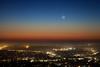 Comet PANSTARRS and Crescent Moon over San Diego (Silver1SWA (Ryan Pastorino)) Tags: moon canon 5d astronomy comet panstarrs canon5dmarkii cometc2011l4panstarrs