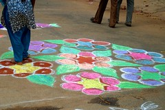 17 (akila venkat) Tags: street art colours patterns bangalore rangoli indianart
