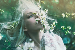 vernal heart (Kindra Nikole) Tags: life flowers white flower green fling hair gold living spring blossom lace turquoise live nin fresh bloom vernal breathe anais wisp kindra equinox nikole filligree flickr12days