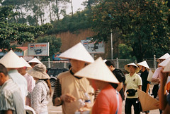 Leaf Hats (mayrpamintuan) Tags: travel mountain mountains film tourism nature hat analog asian outside outdoors island islands lomo lomography asia vietnamese tour view natural kodak outdoor grain lofi hats tourist vietnam grains analogue grainy fujica province lowres halong halongbay ultima lowfi citytour fujicast605n kodakultima100 kodakultima