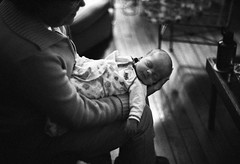 Welly and Grammy (patrickjoust) Tags: family boy sleeping bw usa baby white black blancoynegro film home analog america 35mm us cozy md holding focus fuji mechanical grandmother united north patrick maryland rangefinder son baltimore domestic states manual expired joust welly grammy develop estados llewelyn xtol contaxiia blancetnoir unidos schwarzundweiss fujifilmneopan1600 autaut zeissopton50mmf15sonnar patrickjoust developed3200