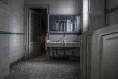 (even72) Tags: old reflection abandoned mirror sink decay tiles forgotten urbanexploration derelict urinals hdr decayed pissoir dereliction mensroom postapocalyptic