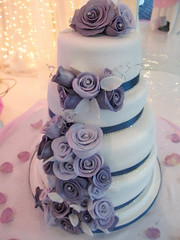 Purple White Wedding Roses