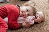 sibling rivalry (backpackphotography) Tags: baby cute girl smile infant sister brother blanket era archer backpackphotography