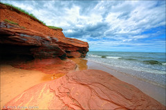 red sands of PEI. (evelyng23) Tags: canada beach beautiful landscape interestingness soft july sigma explore princeedwardisland 1020mm hdr 2012 433 aficionados photomatix i500 darnley 3exp redsands darnleybeach evelyng23 pentaxk5 3252013