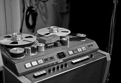 Abbey Road: Studer J37 Four-Track (The_Kevster) Tags: leica light blackandwhite bw music london monochrome vintage studio shadows bokeh buttons machine rangefinder pinkfloyd tape beatles abbeyroad 1960s knobs switches emi recording reeltoreel reel studer taperecorder stjohnswood sgtpepper recordingstudios multitrack summicron50mm fourtrack abbeyroadstudios leicam9 2013march