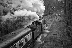 West Somerset Railway Spring Steam Gala (Paul Perton) Tags: blackandwhite bw railway loco steam locomotive railways sr wsr westsomersetrailway cameraslenses afszoomnikkor2470mmf28ged