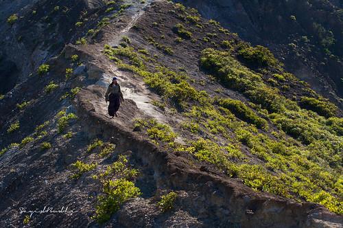 Walking Down the Hill Path