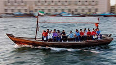 RX1A0752 - Panning the Abra (crimsonbelt) Tags: travel people creek boats dubai abra waters panning