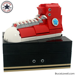 Converse Chuck Taylor All Star (Red Hi Top) (bruceywan) Tags: classic basketball shoe star high shoes all lego top low converse taylor chuck hi photostream moc brucelowellcom