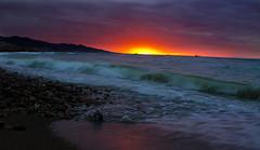 Tenes Sunset (Reda Ait Saada) Tags: light sunset sea mer sol water colors del canon photography eos la algeria soleil photo spring tramonto day sonnenuntergang d coucher du moment algerie puesta plage printemps 1100 argelia aljazair   zalazak sunca   cezayir tenes  algerien   algria