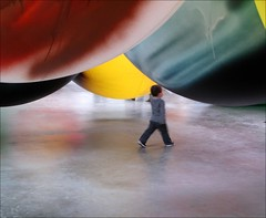 The Grosse Marcher (YIP2) Tags: art netherlands museum painting minimal installation marching tilburg sculptures depont watchers katharinagrosse museumwatchers museumdepont