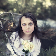 Surrounded by Light (Sophia Alexis) Tags: alexis light roses flower green girl norway by forest photoshop canon eos 50mm spring eyes little bokeh sister sigma 7d april surrounded sophia