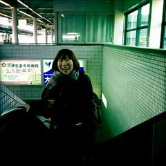 upscalator (troutfactory) Tags: portrait smile japan digital square friend  kansai spontaneous   naraprefecture ipod5 hipstamatic