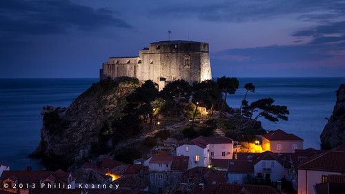 Dubrovnik Castle at night