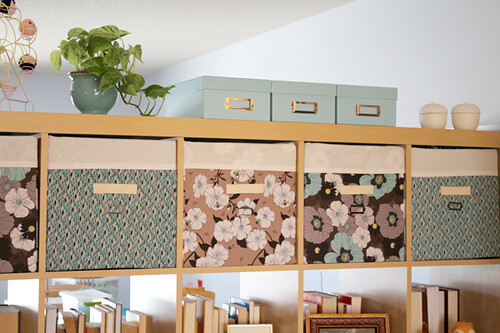 Fabric Bins for the IKEA Expedit