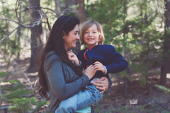 My youngest and I (Adriana Varela) Tags: family boy smile forest nikon child mother naturallight son