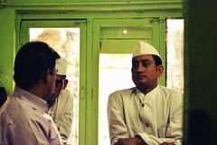 Untitled (harshprk) Tags: old light portrait food sunlight india white green restaurant nikon uniform dress talk jaipur waiter d5200