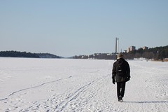 (frettir) Tags: winter lake ice walking is vinter torn promenad mlaren hsselby sj skorsten ngby