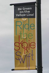 Ride the Skokie Swift (niureitman) Tags: train illinois cta banner skokie yellowline chicagotransitauthority skokieswift 2013 skokieblvd rt41 ctatrain skokieillinois usroute41 april2013