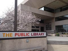 Springtime at the Library (chattlibrary) Tags: cherryblossoms brutalistarchitecture downtownchattanooga chattanoogapubliclibrary springinchattanooga