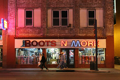 Boots 'N More (Explored 4/17/2013) (Flint Foto Factory) Tags: county city urban building brick hat sign retail night evening store cowboy flickr downtown neon nocturnal nashville boots tennessee country letters broadway 4th front explore sidewalk more ave signage western pedestrians davidson 3rd 312 thedistrict attire musiccity explored bootsnmore