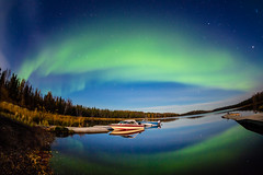 (wrc213) Tags: light red sky lake canada green fall nature colors field night dark lights star solar dancing natural display surrealism atmosphere nobody exotic shore aurora mirrored astronomy polar northern universe relaxed particles magnetic celestial illuminate yellowknife discharge polaris phenomenon exceptional uniqueness ionosphere substorm