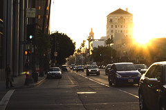 Sunset Blvd. (Donavan Johnson) Tags: california ca street city sunset sun sunlight streets cars cali canon photography rebel 50mm la losangeles los angeles c johnson streetlife palmtrees photographs hollywood blvd t3i donavan streetstyle 600d bebach donavanjohnson donavanjohnsonphotographs