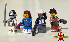 But who watches over the watchers? (Saber-Scorpion) Tags: soldier lego tracer minifig genji 76 moc dva overwatch minifigures brickwarriors soldier76
