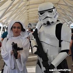 Leia & Stormtrooper at Star Wars Celebration Europe (It's Nonsinthetik) Tags: starwars princess stormtrooper leia starwarscelebration excelcentre theforceisstrong swce nonsinthetik