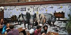 Skin & Bones - id-iom @ UPfest 2016 (id-iom) Tags: aerosolpaint art arts cool drip england face graffiti head idiom paint pig pigs spray spraypaint steamcrane stencil street streetart uk upfest urban vandalism wall zombie bristol