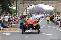 Model T leads the way - Jacaranda Parade 2015 (sbyrnedotcom) Tags: 2015 people events grafton jacaranda parade rural town vintage car modelt nsw australia