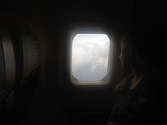 FR6362 (Andy Romero) Tags: pmi palmademallorca barcelona ryanair window fly girl