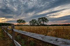 20160730-DSC_9578-HDR-Edit (the Mack4) Tags: 2016 july sunset clouds trees webster newyork red niksoftware hdr gosnellbigfield landscape fence