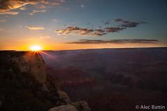 Sunset-Grand Canyon (ajbattin) Tags: sunset grand canyon grandcanyon pink clouds pinkclouds arizona alec battin