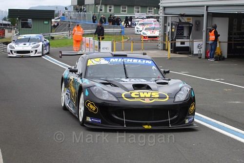 Colin White in Ginetta GT4 Supercup at the BTCC Knockhill Weekend 2016